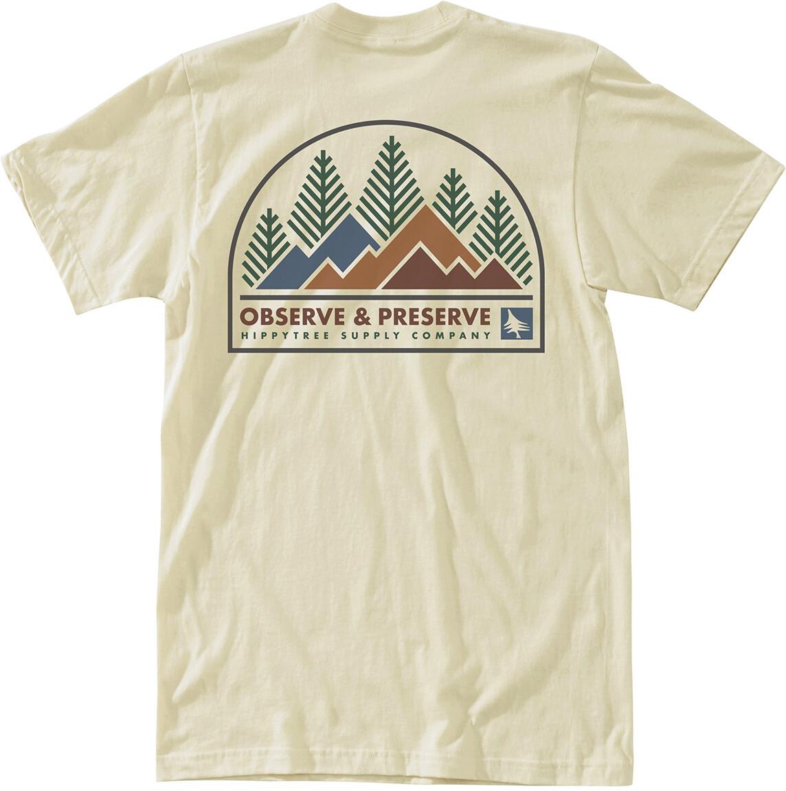 Hippy Tree Observation T shirt Heren, natural
